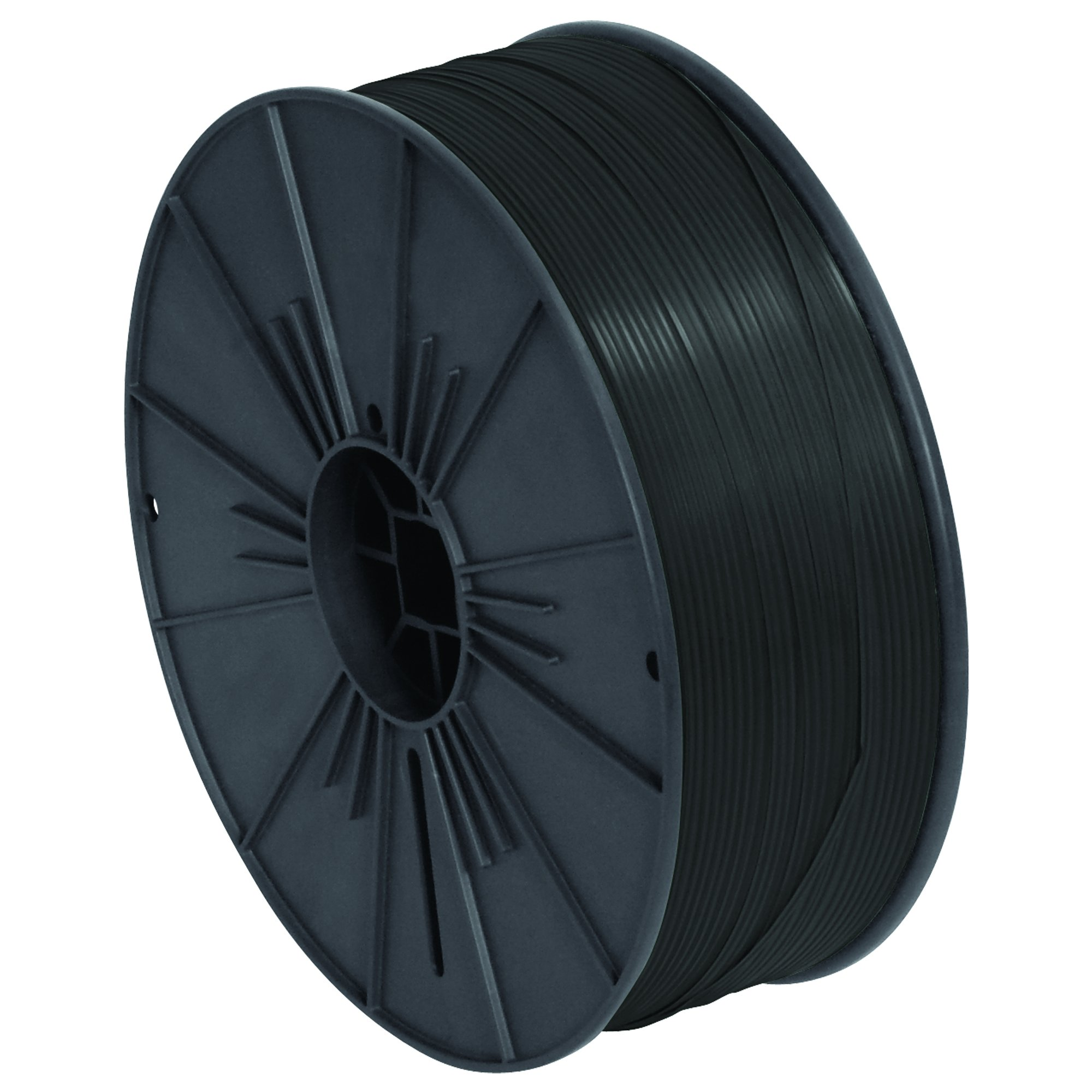 Ship Now Supply SNPLTS532K Plastic Twist Tie Spool, 5/32'' x 7000', 0.156'' width, black by Ship Now Supply