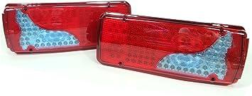 Led Rücklicht 24 V 6 Funktionen Für Anhänger Wohnmobil Lkw Truck 120 Leds 1 Paar Auto