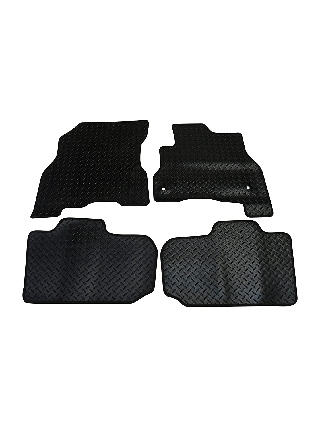 Fully Tailored Deluxe Rubber Car Mats in Black