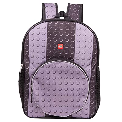 LEGO Classic Black Brick Backpack - Lego Backpack With Zippered Front Pocket (Black) | Kids' Backpacks