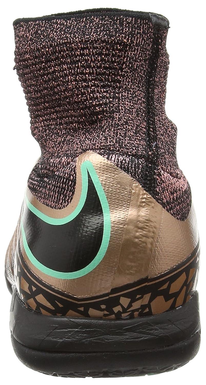 Nike Hypervenomx Proximo IC Mens Football Boots 747486 Soccer Cleats US 12, Metallic Bronze Black White 903