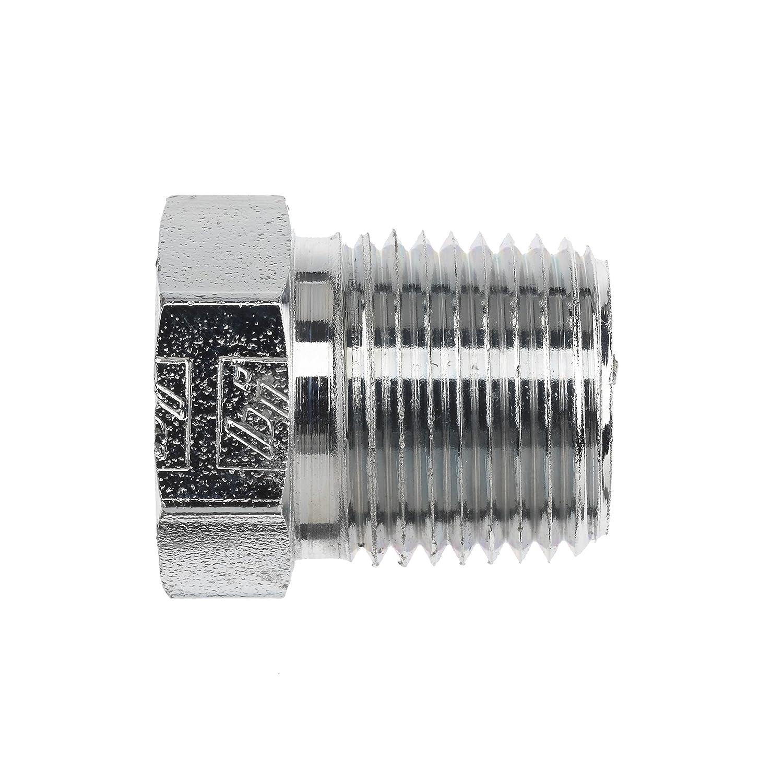 1.120 Length 1//2-14 NPTF Thread 1.120 Length Inc. 1//2-14 NPTF Thread Brennan Industries 5406-P-08-B Brass External Hex Pipe Plug