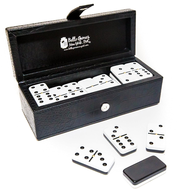 高級素材使用ブランド Flushing Two Meadows Double with Six Professional Spinners Jumbo Size Two Tone Dominoes Set with Spinners B074VWBXGB, タカイシシ:5f12bc71 --- yelica.com