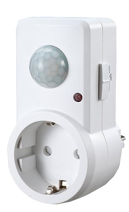 Garza Power - Detector de Movimiento Infrarrojos para Enchufes, Ángulo de Detección 120º, color