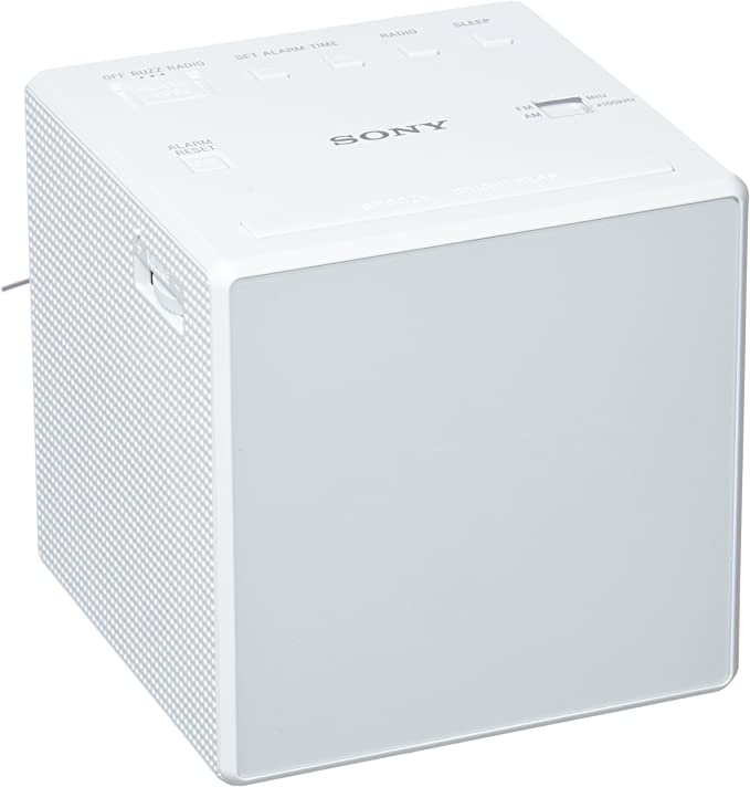 Sony ICF-C1 - Radio despertador con pantalla LED, blanco: BLOCK ...