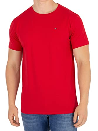 a7f1804f Tommy Jeans Men's Essential Solid T-Shirt, Red, XX-Large: Amazon.co ...