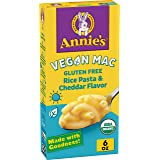 Annie's Organic, Vegan Macaroni and Cheese, Gluten Free, Elbow Rice Pasta & Cheddar, 6 oz (Pack of 12)
