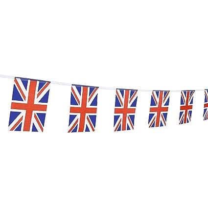 Amazon TSMD 100 Feet United Kingdom UK Flag 76Pcs Indoor