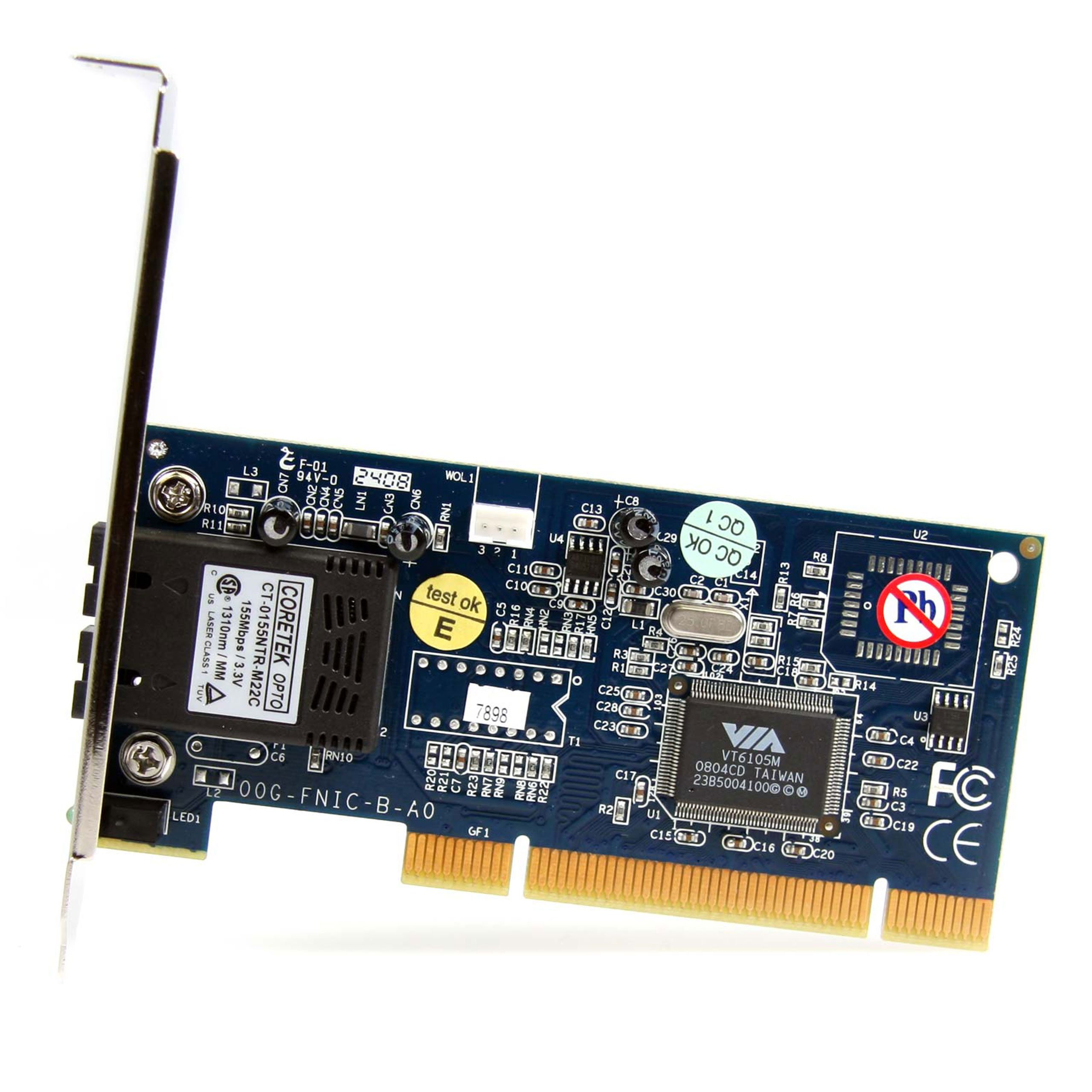 StarTech.com 100Mbps Full/Low Profile Ethernet Multi Mode SC Fiber PCI NIC Card - 2 KM (PCI100MMSC) by StarTech (Image #2)