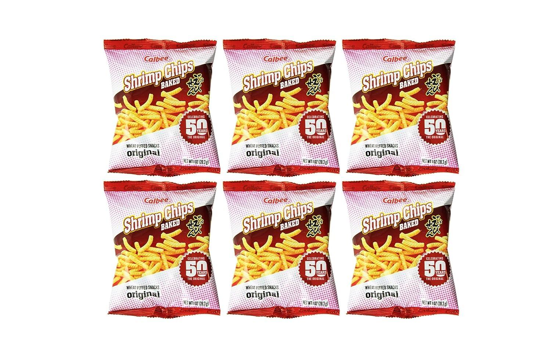 Calbee Baked Shrimp Chips (6 Pack, Total of 6oz)