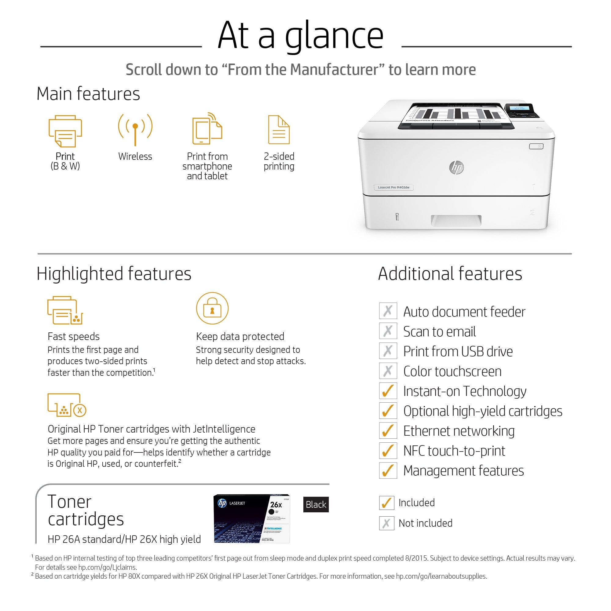 HP LaserJet Pro M402dw Wireless Monochrome Printer (C5F95A#BGJ) by HP (Image #6)