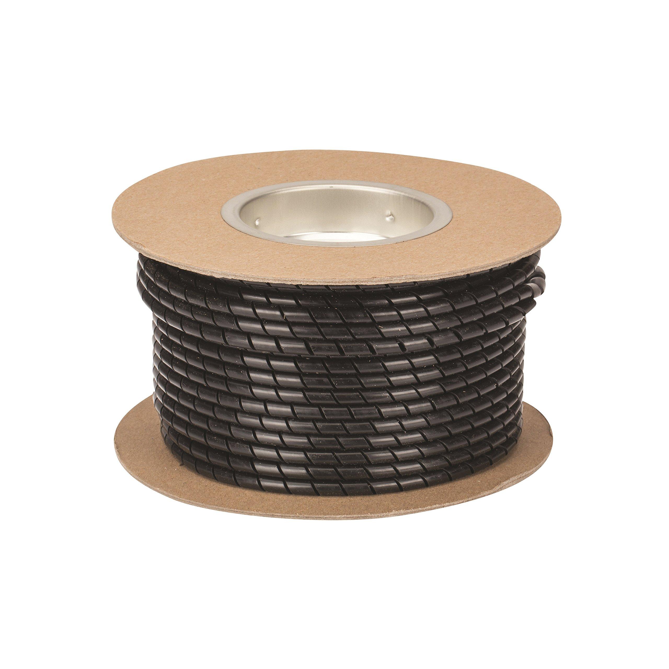UV Polyethylene Spiral Wrap Cable Harness, 0.236'' OD x 0.157'' ID, 0.157'' - 1.97'' Bundle Range, Black by NSI (Image #2)