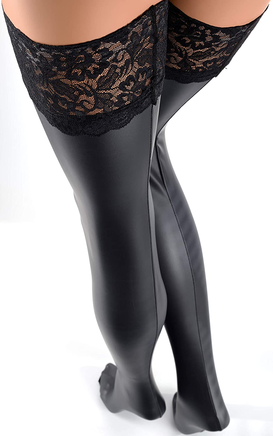 39103490c9f Trasparenze Allen Leather Look Hold Ups  Amazon.ca  Clothing   Accessories