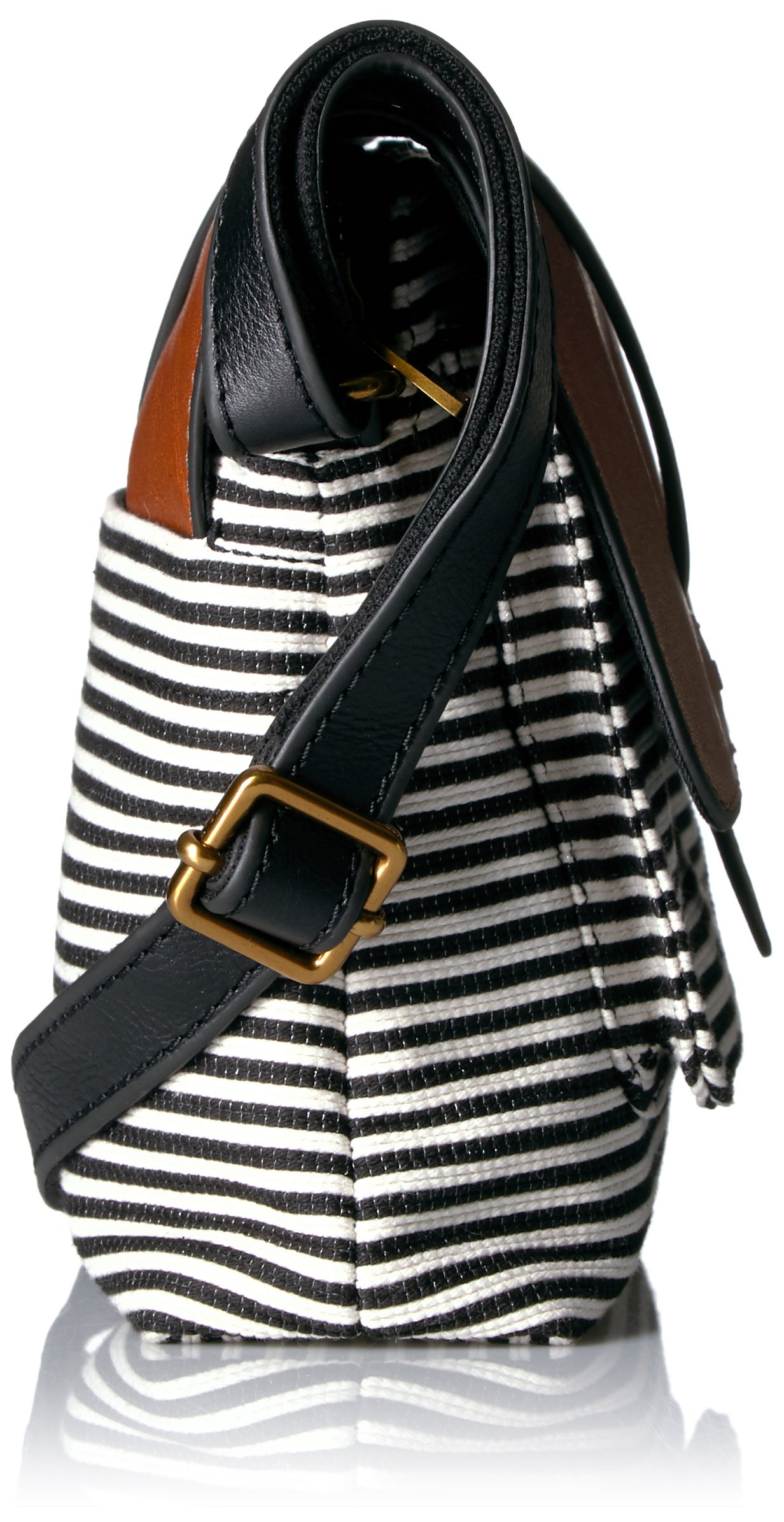 Fossil Kinley Small Crossbody Bag Black Stripe Zb7226080 Brown Bags Clothing Shoes Jewelry Tibs