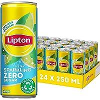 Lipton Sparkling Zero Sugar Ice Tea een heerlijk verfrissende ijsthee - 24 x 250 ml - Voordeelverpakking