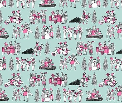 christmas fabric woodland christmasvintage christmas fabric woodland fabric christmas andrea lauren andrea lauren - Vintage Christmas Fabric