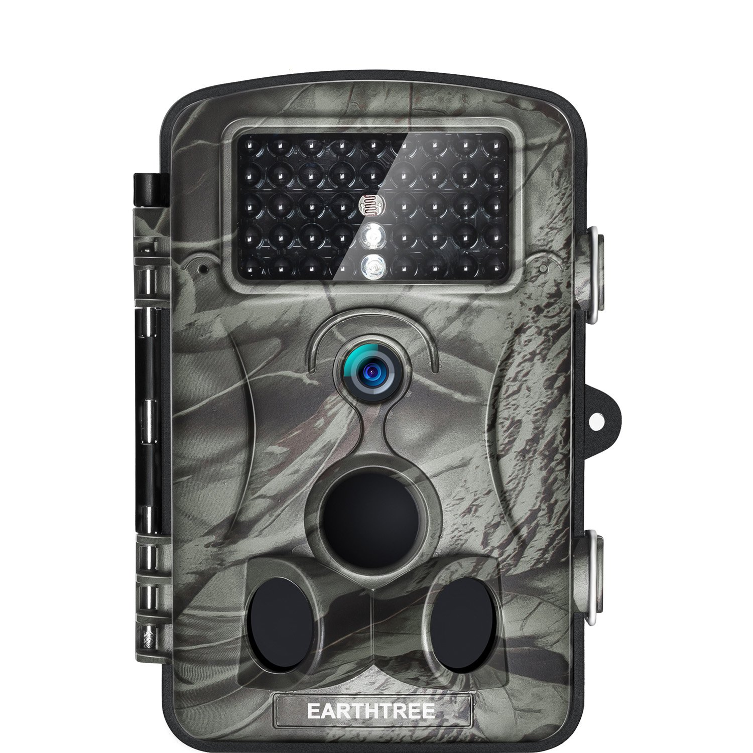 Earthtree Trail Camera 12MP 1080P FHD Game Hunting Camera with 120° Wide Detection Angel 42PCs 940nm IR LEDs Night Vision, 2.4'' LCD Display Wildlife Camera with IP54 Waterproof
