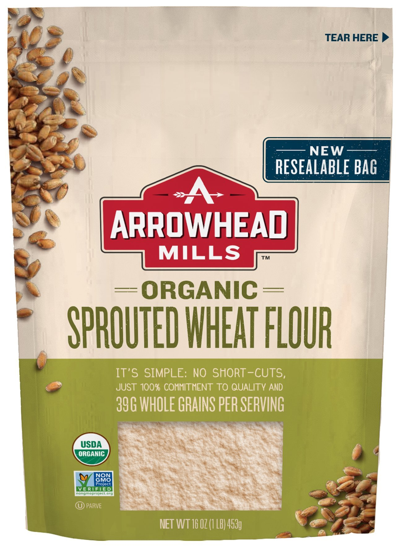 Arrowhead Mills Organic Sprouted Wheat Flour, 16 oz.