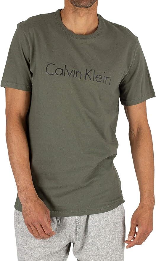 Calvin Klein de los Hombres Camiseta gráfica, Verde, XL: Amazon.es: Ropa y accesorios