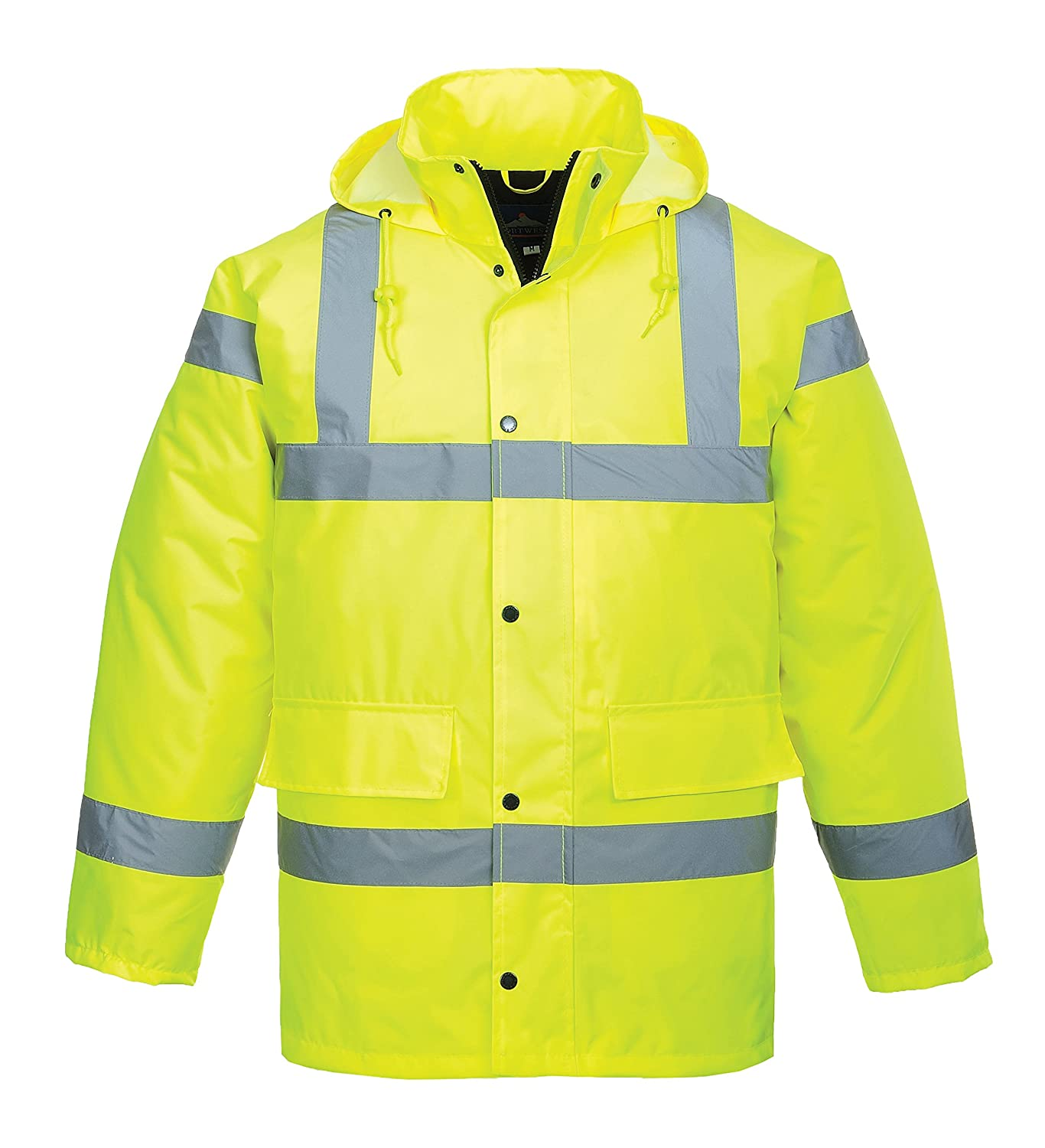 Portwest S460YERXXXL Hi-Vis Traffic Jacket, Regular, Size 3X-Large, Yellow AutoMotion Factors Limited