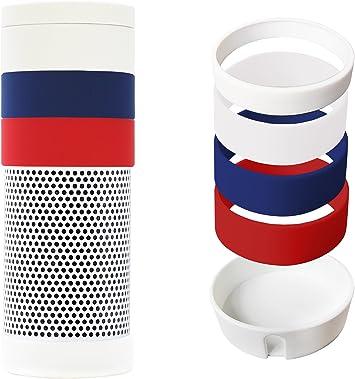 Meres Amazon Echo Funda - Premium Estuche de silicona Protective Cover Con La Desmontable Lazo de silicona suave para Amazon Echo (white UK): Amazon.es