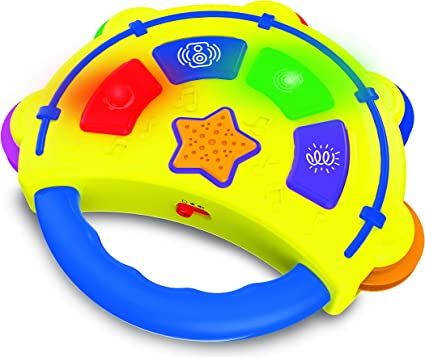 Kids Electronic Tambourine with Lights /& Sounds Early Development Toy Gift
