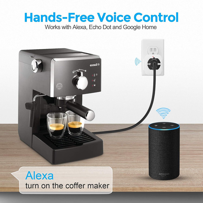 Enchufe inteligente, enchufe WiFi compatible con Alexa, 16 A Google Home & IFTTT, control remoto de tus electrodomésticos desde cualquier lugar, no requiere hub, Blanco: Amazon.es: Bricolaje y herramientas
