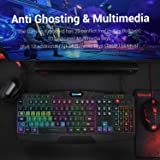 Redragon S101 Wired RGB Backlit Gaming Keyboard and Mouse, Gaming Mouse Pad, Gaming Headset Combo All in 1 PC Gamer Bundle for Windows PC