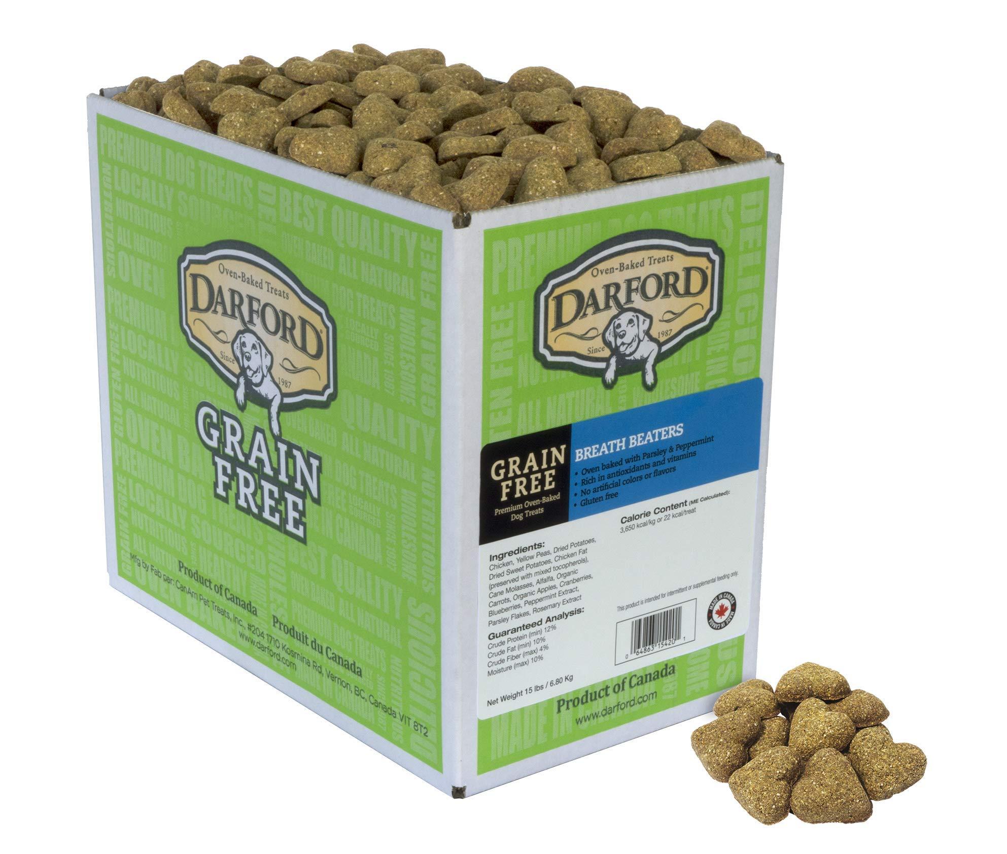 Grain Free Breath Beaters Dog Treats, 15 lb by Darford