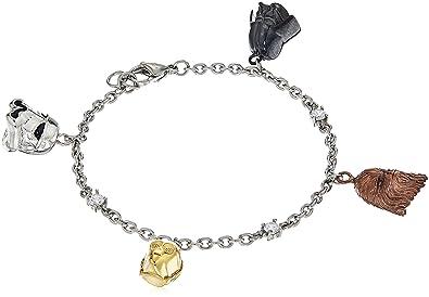 914f406175b3f Star Wars Jewelry Character Stainless Steel 3D Charm Bracelet, 7.25