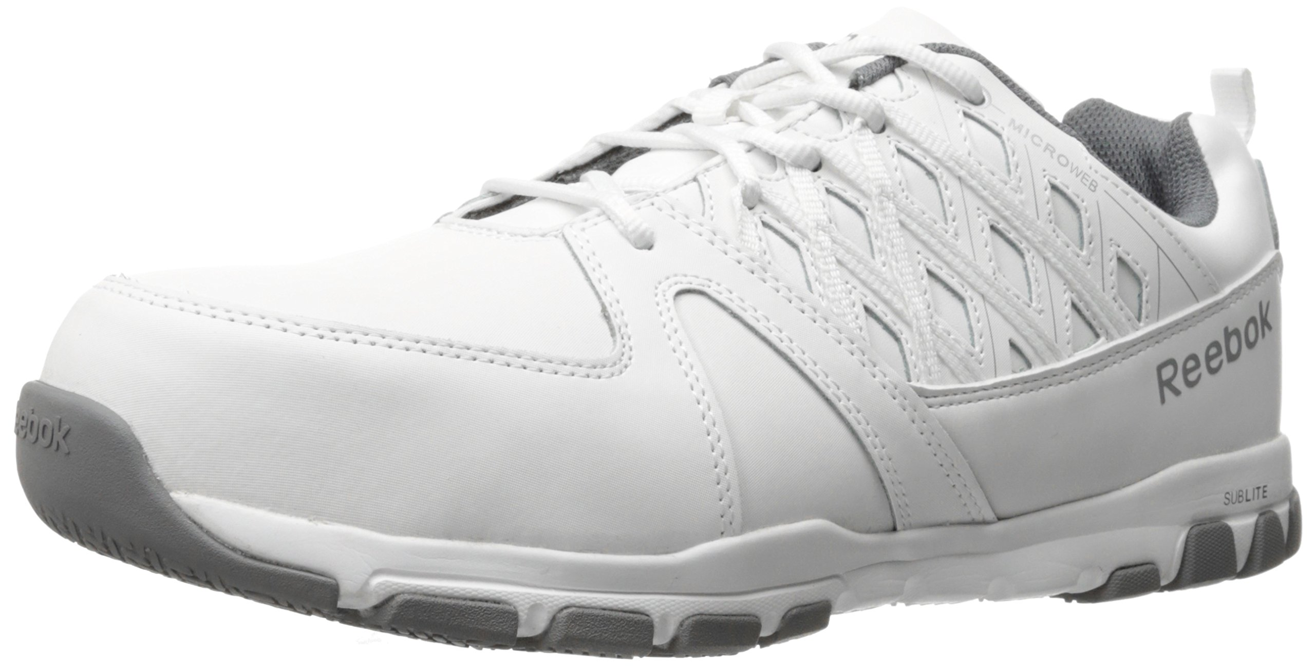 Reebok Work Men's Sublite Work RB4443 Industrial and Construction Shoe, White, 8 M US