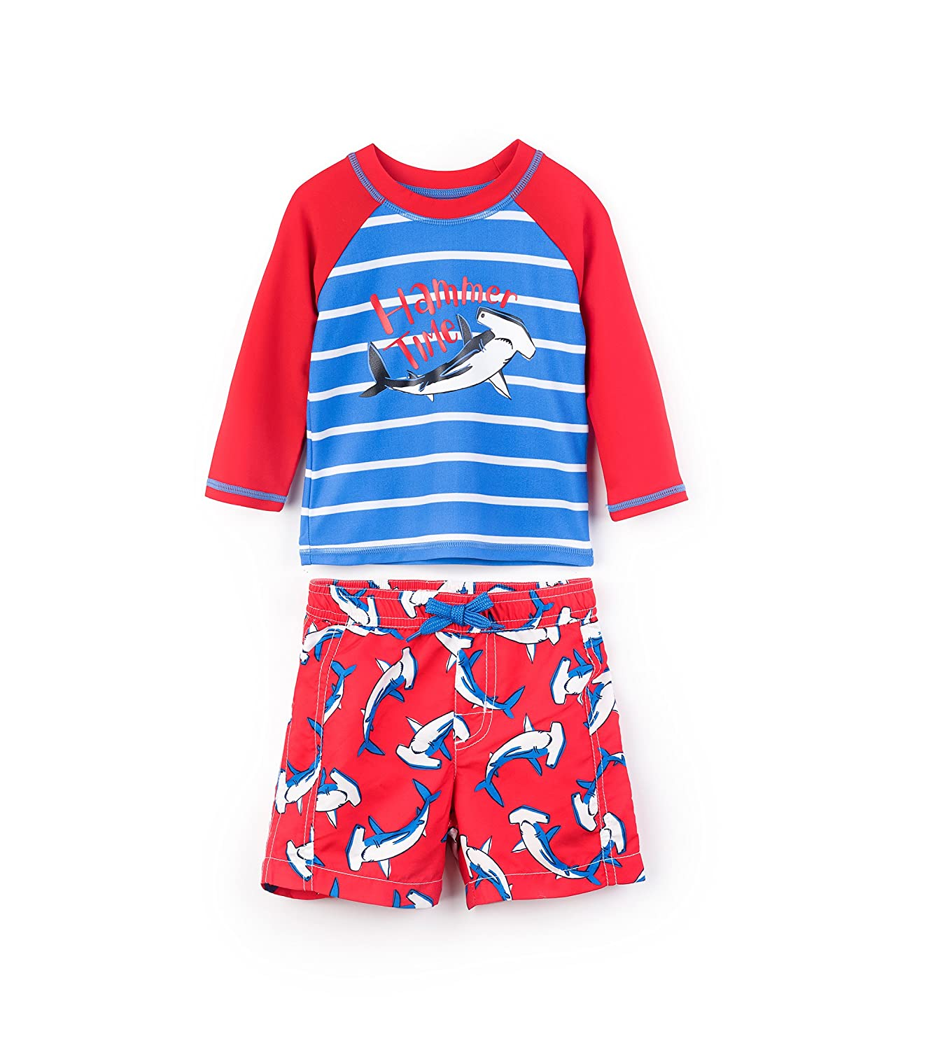 Hatley Baby Boys' Mini Swim Trunks & Rash Guard Swimwear Set