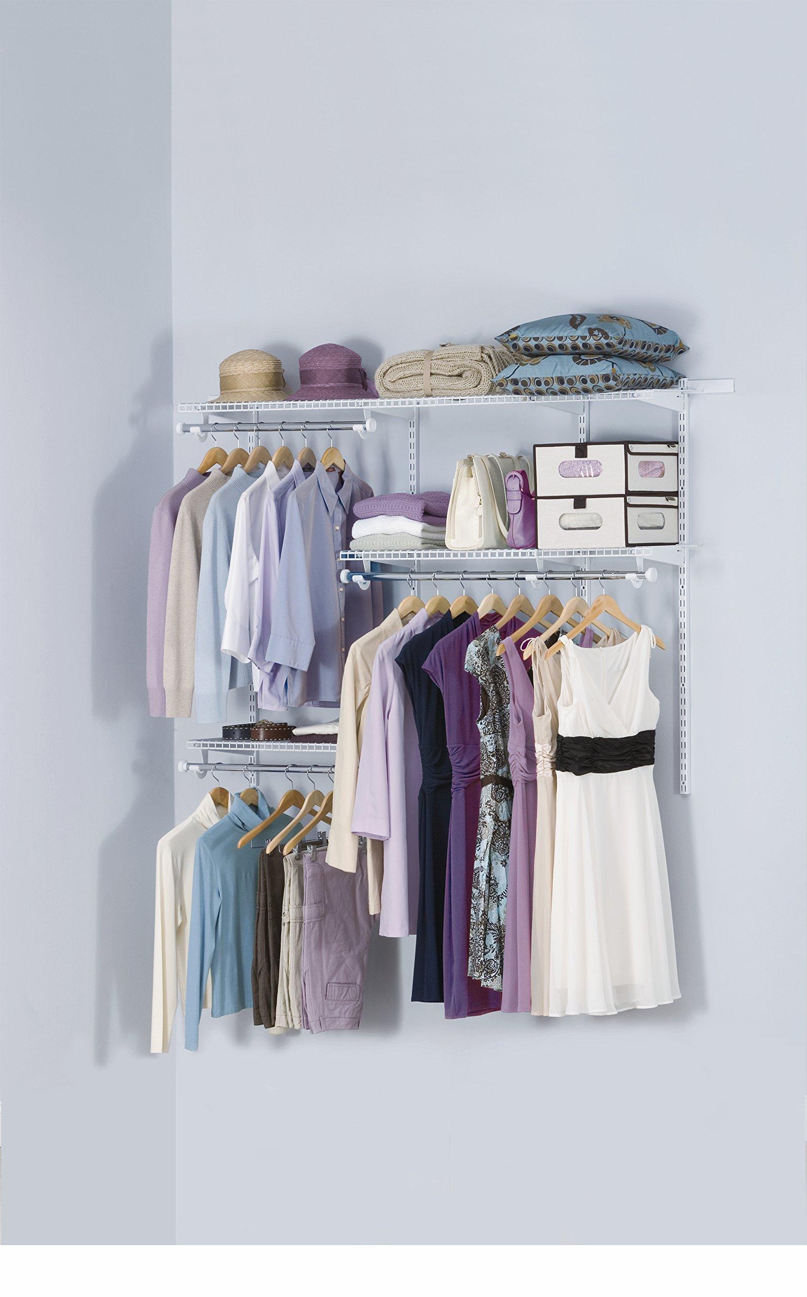 Rubbermaid Configurations Closet Kits, 3-6 ft, Titanium (FG3H1102TITNM)