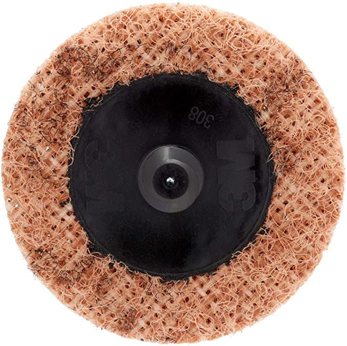 "10Pc 50mm 2/"" Sanding Disc /& 1x Roloc Holder Quick Roll Lock Surface Scotch Brite"