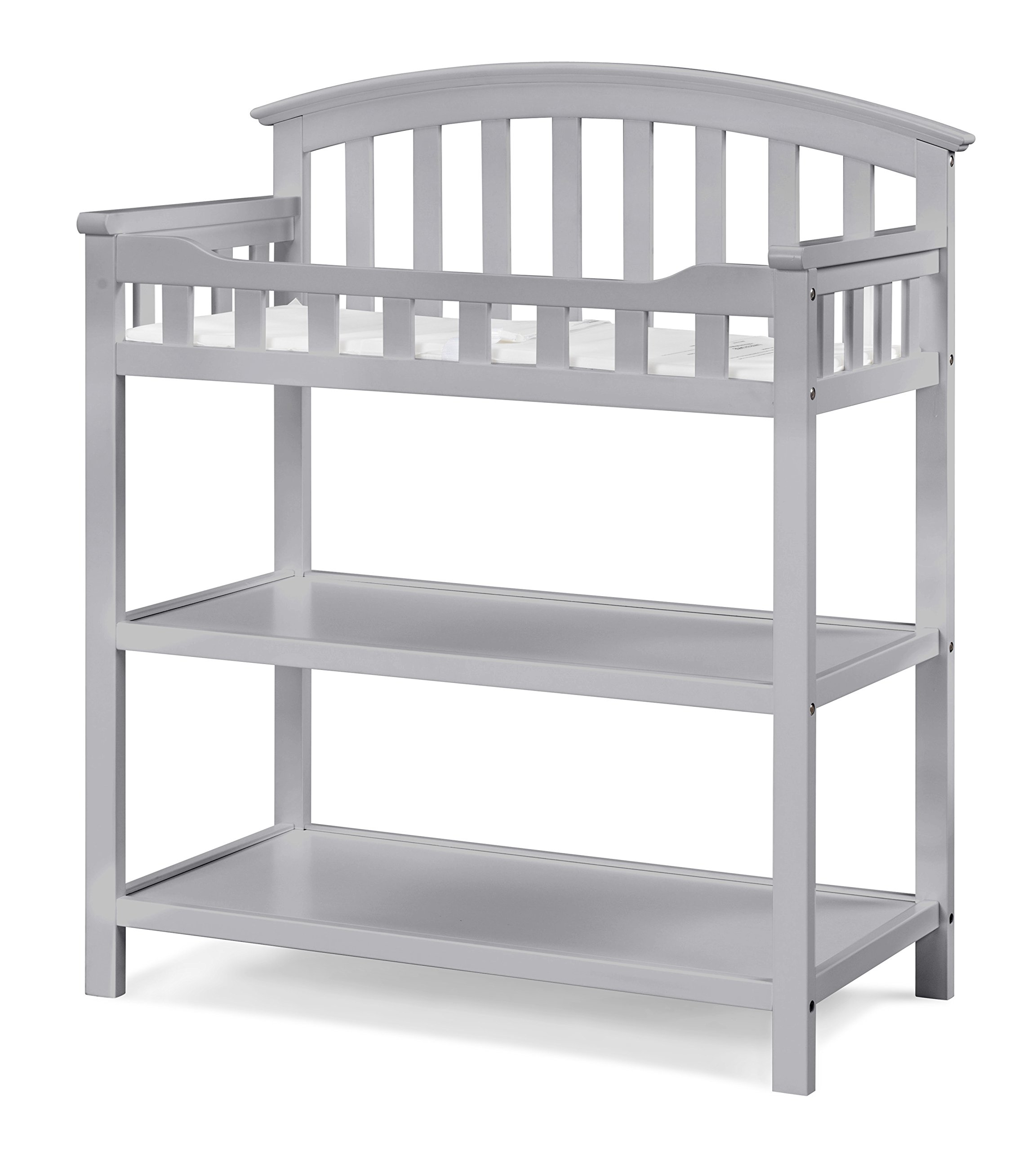 Graco Changing Table, Pebble Gray, Nursery Changing Table for Infants or Babies, Includes Water-Resistant Changing Pad and Safety Strap, Non-Toxic Finish