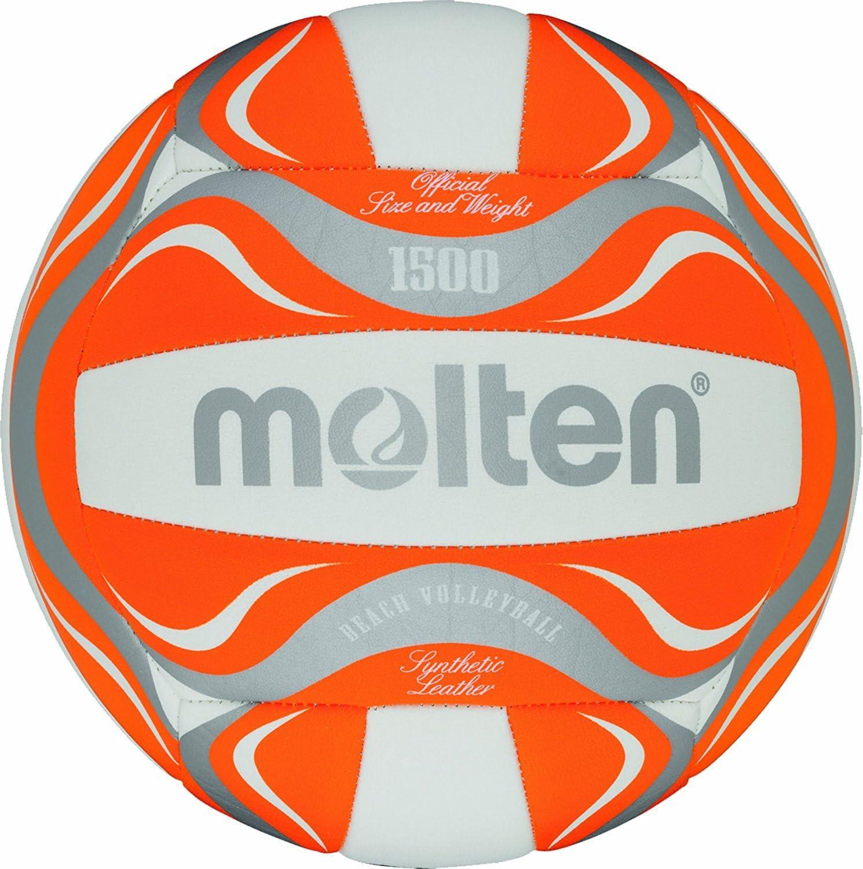 MOLTEN BV1500-OR - Pelota de Volley Playa, Color Naranja/Blanco ...