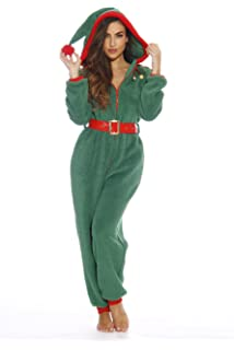 followme Adult Christmas Onesie for Women Sherpa One-Piece Pajamas 3707ec0fab