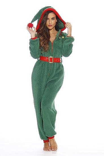 f25e60112ebb Amazon.com   followme Adult Christmas Onesie for Women Sherpa One-Piece  Pajamas  Clothing