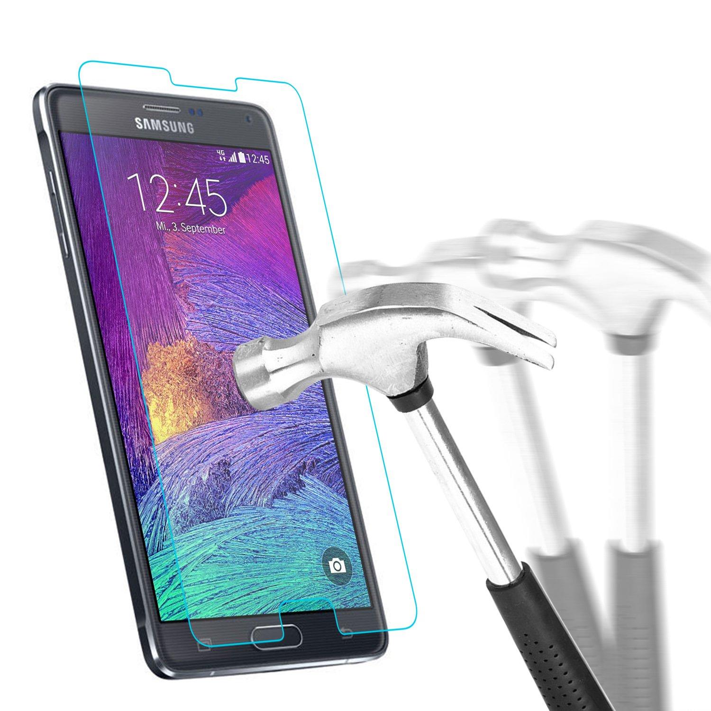 f7026a1821e25b Samsung Galaxy Note 4 Protection écran en Verre Trempé , Bingsale Film Protection  d écran