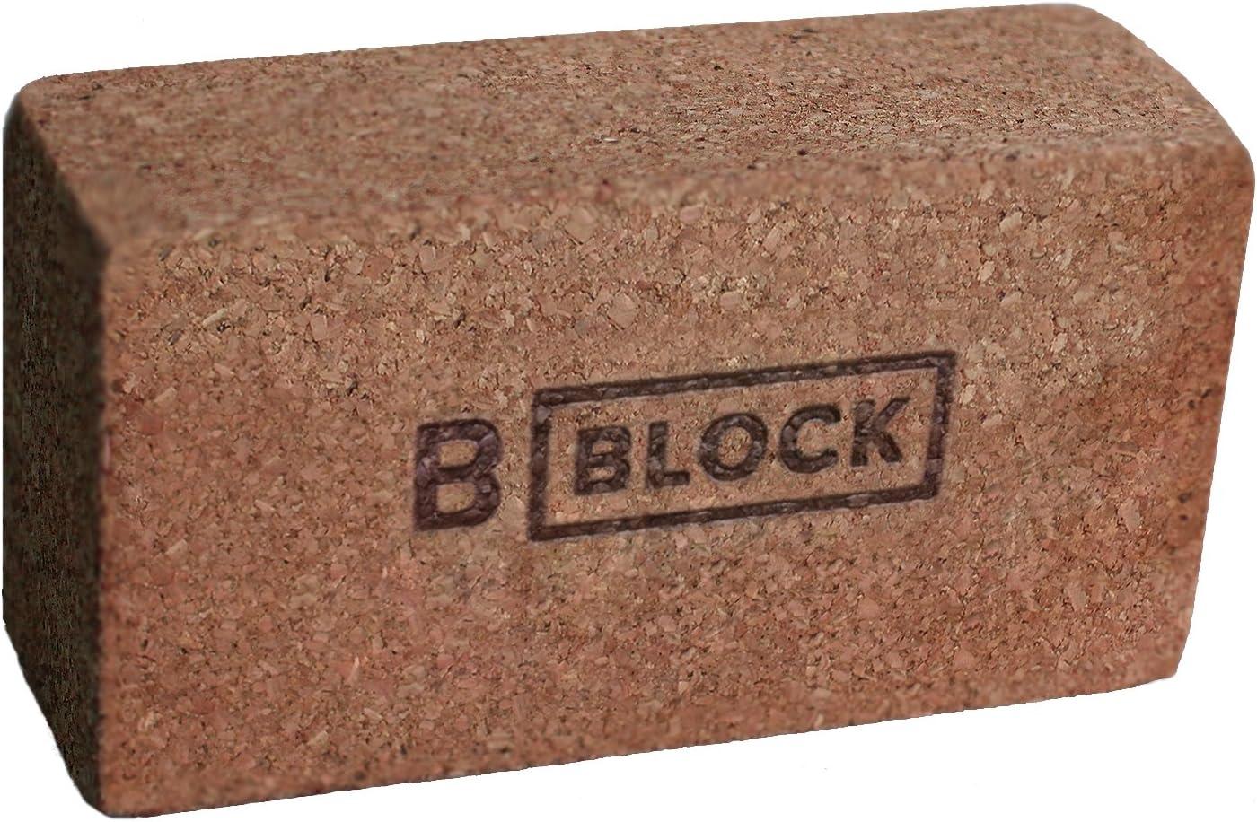 Amazon.com : B YOGA B Block Block Yoga Block, Cork, 3 ...