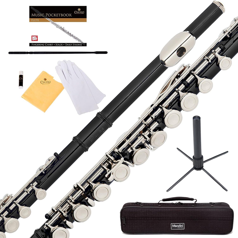 Flauta Traversa Negra Llaves En C Con Funda Y Accesorios Xmp
