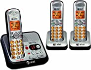 AT&T EL52300 3-Handset DECT 6.0 Cordless Phone with Digital Answering System and Caller ID, Handset Speakerphone, Wall-Mounta