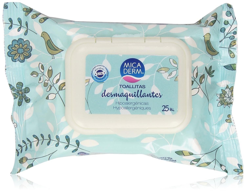 Mica Derm - Toallitas desmaquillantes - Hipoalergénicas - 25 unidades: Amazon.es: Belleza