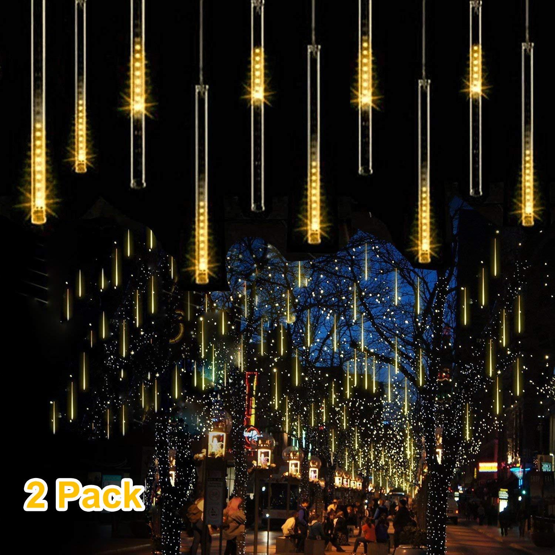 30cm LED Falling Rain Lights 2 Pack 8 Tube