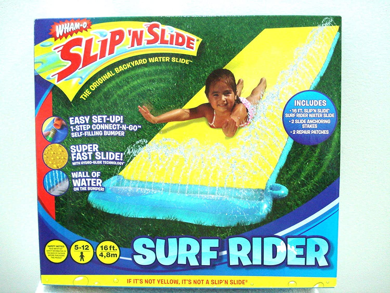 amazon com wham o surf rider slip n slide 16 ft slide toys u0026 games