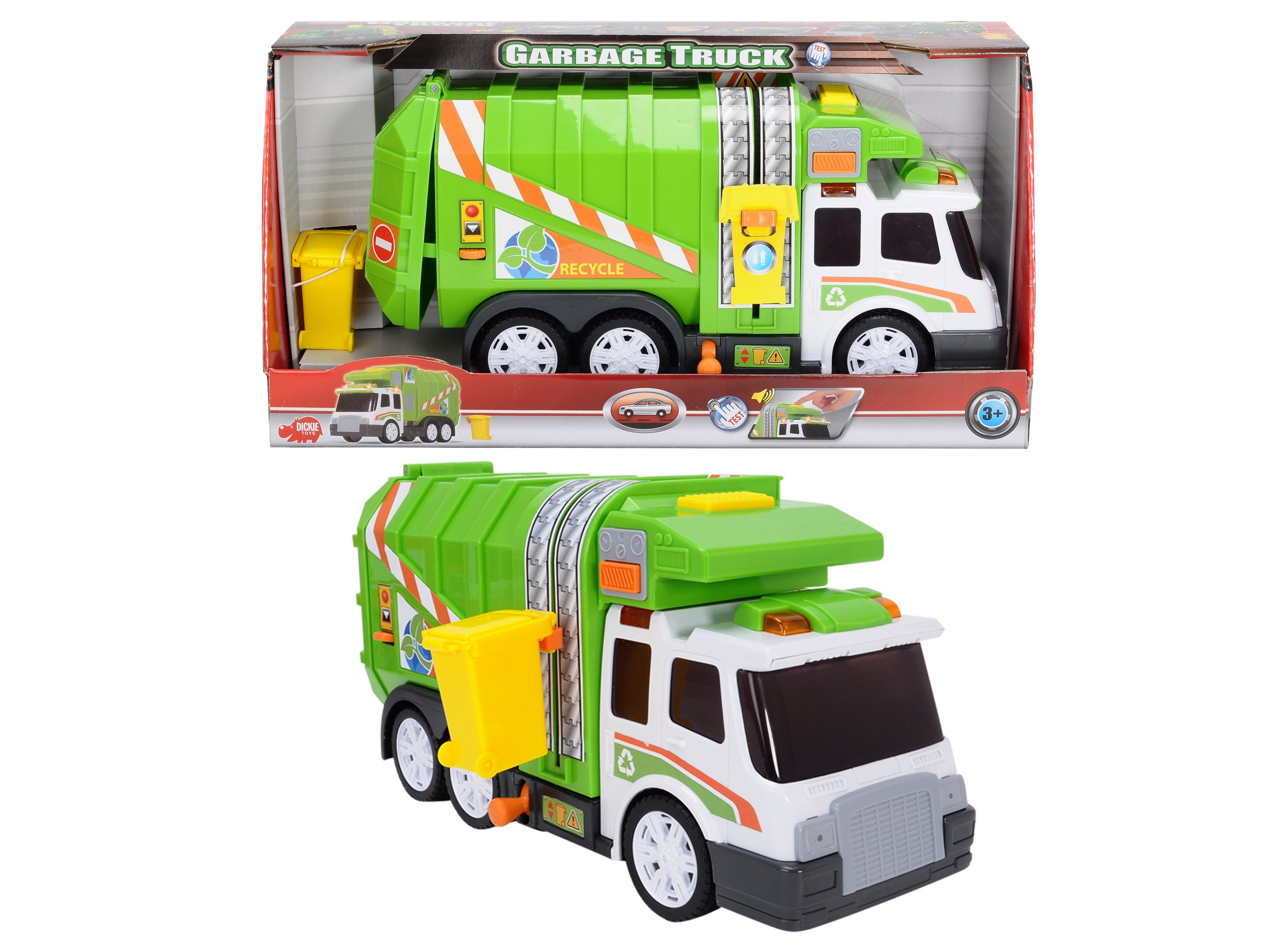 DICKIE TOYS Light and Sound Garbage Truck