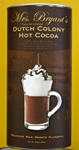 Mrs. Bryant's Dutch Colony Hot Cocoa-2 Pack (9.5 oz per Tin) All Natural, Vegan, Gluten- Free, Kosher Hot Chocolate Mix