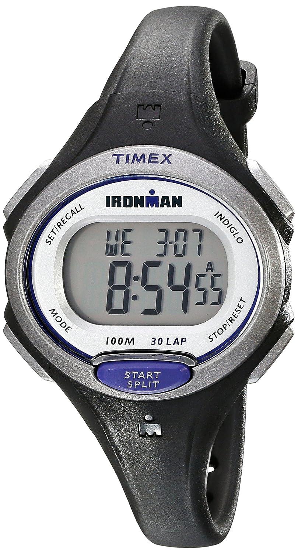 893cc0575 Amazon.com: Timex Women's Ironman Essential | Black Mid-Size 30-Lap Memory  Sport TW5K90000: Timex: Watches