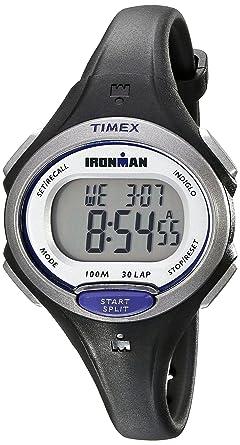 1285e7db4 Timex Women's Ironman Essential | Black Mid-Size 30-Lap Memory Sport  TW5K90000