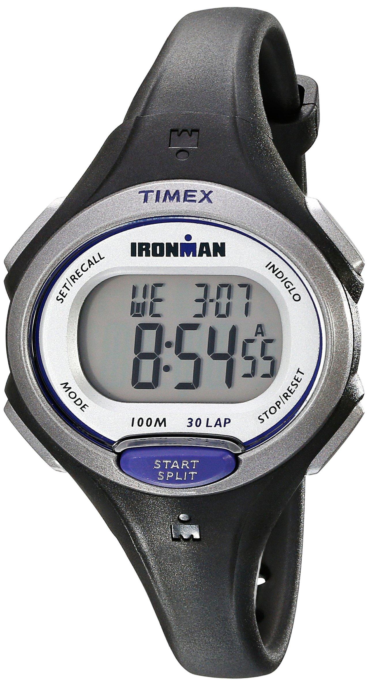 Timex Women's Ironman Essential | Black Mid-Size 30-Lap Memory Sport TW5K90000